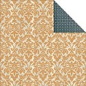 Scrappapier Teresa Collins - Vintage Finds - Orange Damask