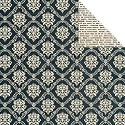 Scrappapier Teresa Collins - Vintage Finds - Black Damask