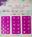 Joy! Crafts - C&E Stencils - Mery`s ABC Ribbon Buttons