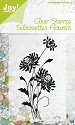 Joy! Crafts - Clearstamp - Silhouettes Flowers nr 4