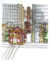 Rubber Stamp LDRS - Backgrounds San Francisco Trolley