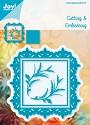 Joy! Crafts - Noor! Design - Vierkant met franse lelie (4st)