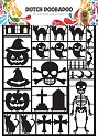 Dutch Doobadoo - Dutch Paper Art A5 - zwart - halloween