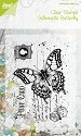 Noor! Design - Clearstamps Old Letter Butterfly