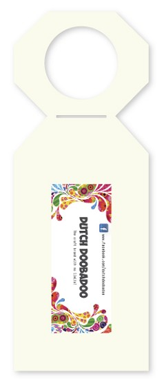 Dutch Doobadoo - Shape stencil - Fleshanger label