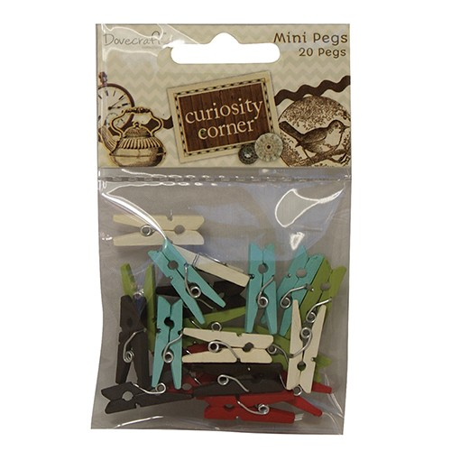 Dovecraft - Curiosity Corner Paper - Mini Pegs
