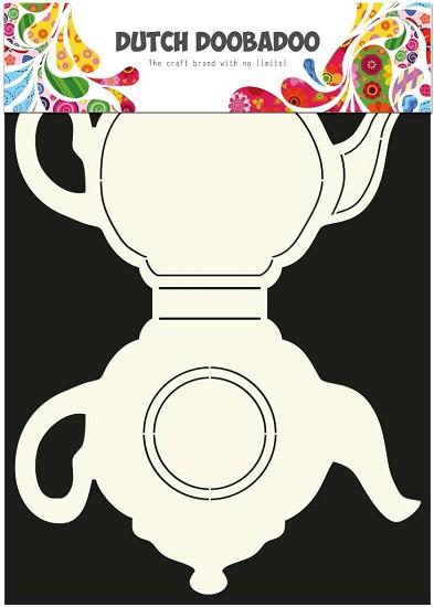 Card Art - Dutch Doobadoo - Theepot A4