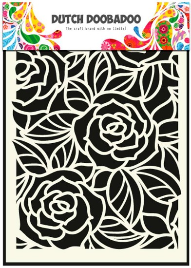 Dutch Doobadoo - Mask Art Stencils A5 - Big Roses