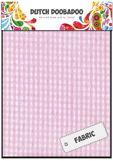 Dutch Doobadoo - Fabric Art - Textile Pink Check