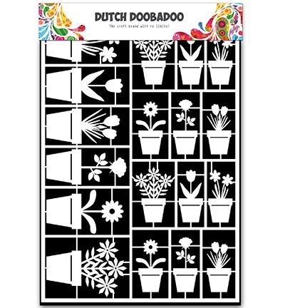 Dutch Doobadoo - Paper Art A5 - Flower Pots