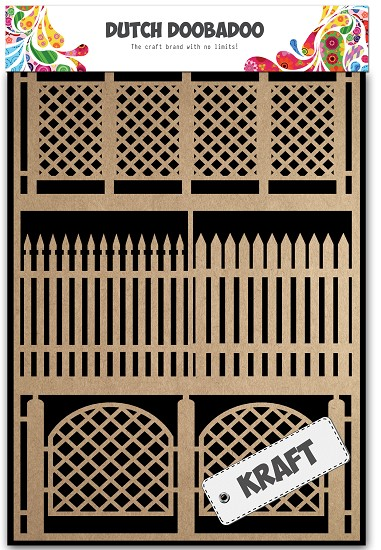 Dutch Doobadoo - Dutch Paper Art A5 - Kraft Fences