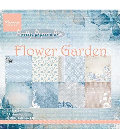 Marianne Design - Paperpad 15 x 15 cm - Flower Garden