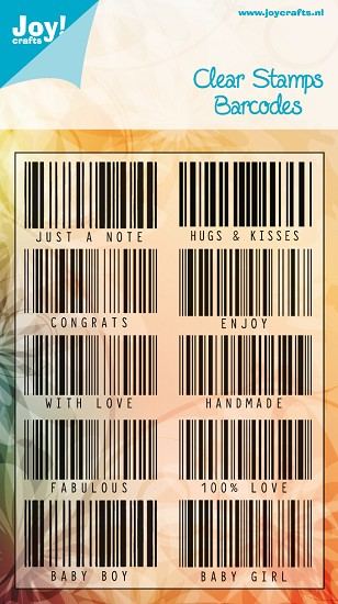 Noor! Design - Clear stamp - Barcodes
