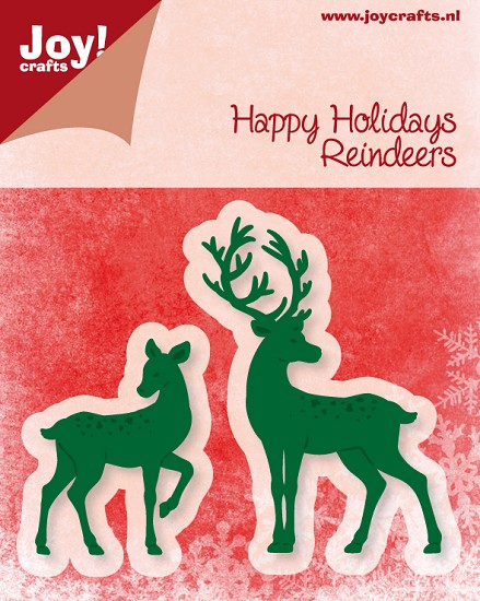 Noor! Design - Cutting & Embossing mal - Happy Holidays - Reindeers