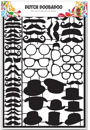Dutch Doobadoo - Dutch Paper Art A5 - Mustaches