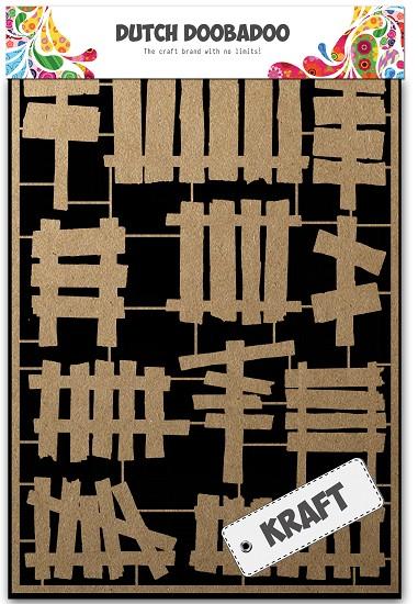 Dutch Doobadoo - Dutch Paper Art A5 - Wooden fences