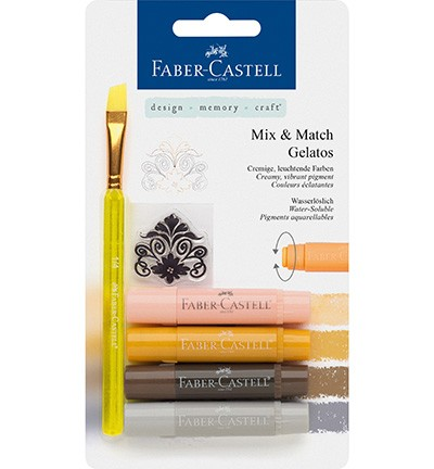 Faber Castell - Gelatos - Aquarelkrijt set Neutraal