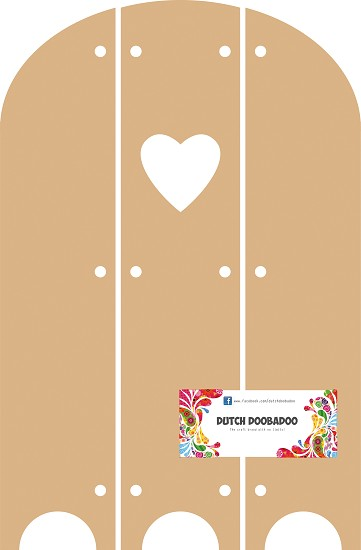 Dutch Doobadoo - MDF Art - Triptech with Heart