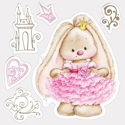 Clearstamp ScrapBerry`s - Set of Stamps - Bunny Princess
