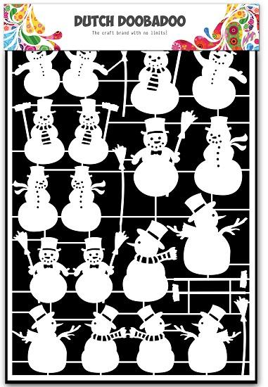 Dutch Doobadoo - Dutch Paper Art A5 - Snowman