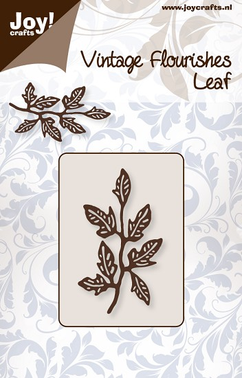 Noor! Design - Vintage Flourishes - Leaf 1