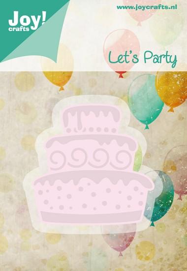 Noor! Design - Cutting & Embossingmal - Let`s Party - Taart