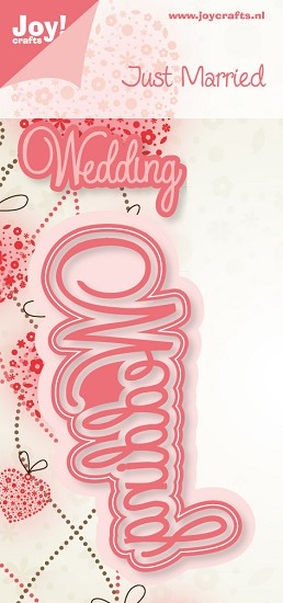 Noor! Design - Cutting & Embossing stencil - Just Married - Tekst
