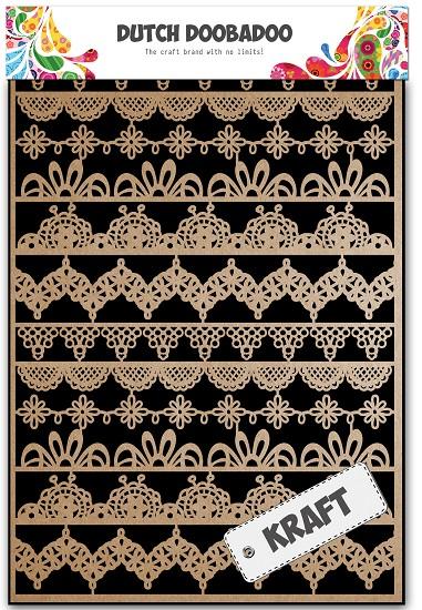 Dutch Doobadoo - Dutch Paper Art A5 - Kraft Party Borders