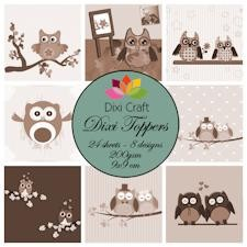 Dixi Craft - Vintage set - Owls Sepia