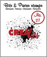 Clearstamp Crealies - Bits & Pieces - No 27 Grunge