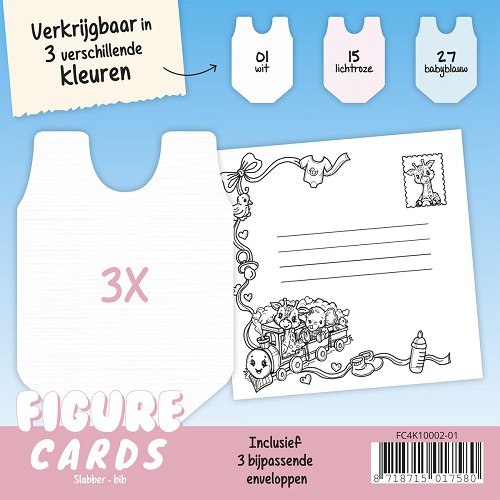 Figure Cards - Slabbertje - Wit