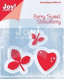 Noor! Design - Berry Sweet - Hart met blaadjes