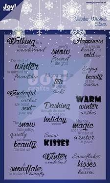 Noor! Design - Winter Wishes - Clearstamp Stars