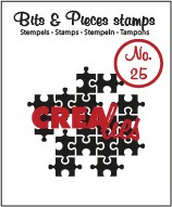Clearstamp Crealies - Bits & Pieces - No 25 Puzzle Pieces