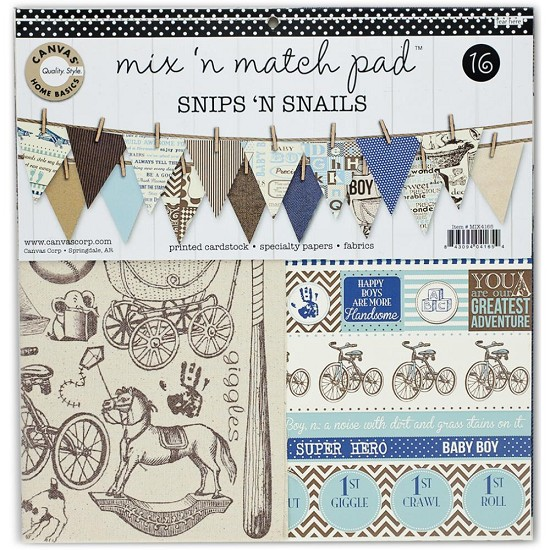 Canvas Corp - Mix & Match Pad - Snips & Sails