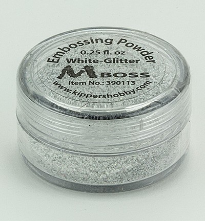 Embossingpoeder - Mboss - White Glitter (Special silver)