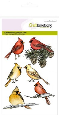 Clear stamp - CraftEmotions - Home for Christmas - Karnidaalvogels