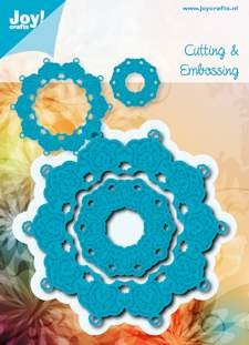 Noor! Design - Cutting & Embossingstencil - Blauwe mal - Rond