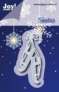 Noor! Design - Cutting & Embossingstencil - Winter Wishes - Oudhollandse schaatsen