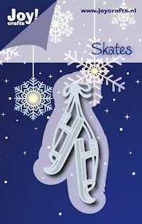 Noor! Design - Cutting & Embossingstencil - Winter Wishes - Oudhollandse schaatsen