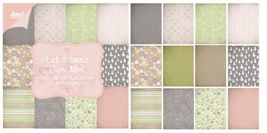 Noor! Design - Paperpad 30 x 30 cm - Let it Snow