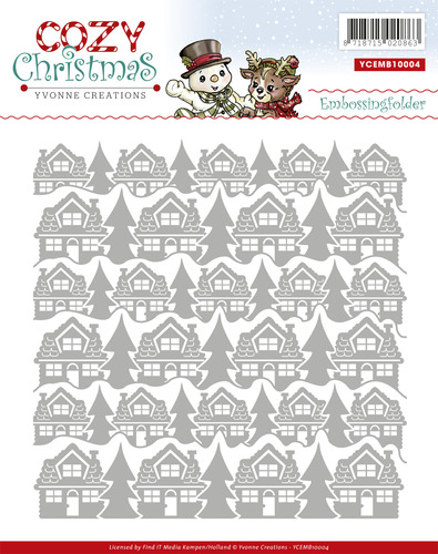 Embossing Folder - Yvonne Creations - Cozy Christmas