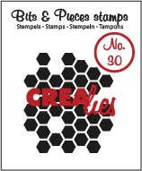 Clearstamp Crealies - Bits & Pieces - No 30 Honeycomb