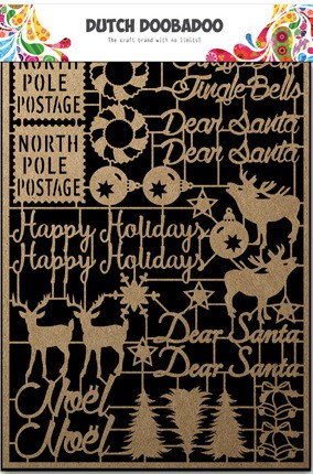 Dutch Doobadoo - Kraft Art A5 - Christmas