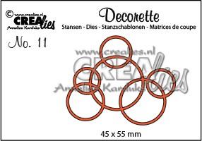 Stansmal - Crealies - Decorette no 11 - Cirkels in elkaar