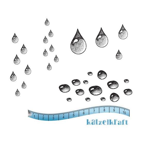 Rubberstamp - Katzelkraft - Waterdruppels