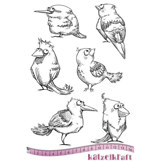 Rubberstamp - Katzelkraft - A5 - Vogels