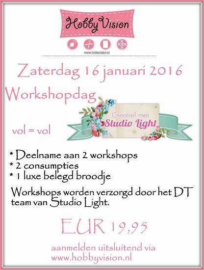 Studio Light Workshopdag - Zaterdag 16 januari 2016