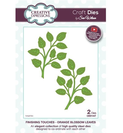 Stansmal Creative Expressions - Craft Dies - Orange Blossom Leaves