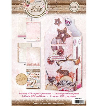 MDF Pakket incl papier - Studio Light - Lantern Sweet Winter Season